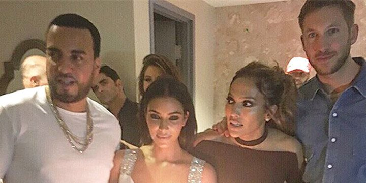 Kim Kardashian and Calvin Harris celebrate Jennifer Lopez's birthday in Vegas