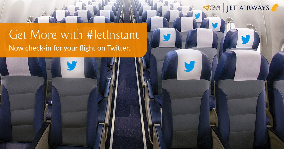 TwitterInnovation: Now check in for your flight with just a tweet!  JetInstant More: