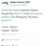 #theri and #Kabali satellite rights.. #theri 39.5cr.... https://t.co/HY3iEfdvdl