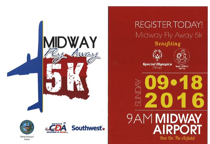 Midway's Fly Away 5K, benefiting @SpecialOChi is set for 9/18 . Register today!