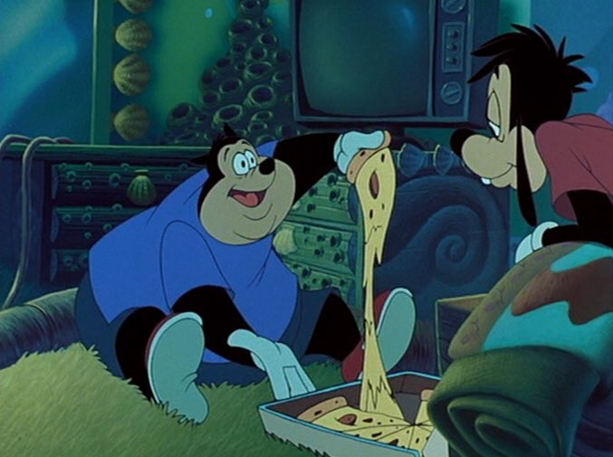 this is random but the pizza in a goofy movie had no business looking that good