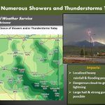 When Thunder Roars Go Indoors:) Storms developing later this morning continuing into the evening. https://t.co/AHwWWEsEcw