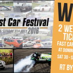 #WIN 2 WEEKEND TICKETS to @FastCarFestival at @DoningtonParkUK 30-31 Jul. Simply RT by 27/7 to enter! https://t.co/Uy14sauhnP