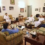 In meeting with chairman @ImranKhanPTI regarding reforms & development in KP.CM Pervaiz Khattak&ministers r also thr https://t.co/35oYiLM8eb
