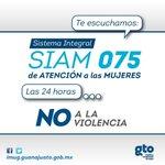 En el #SIAM recibe asesoría legal, información sobre apoyos y más con sólo llamar al 075 @mujerguanajuato https://t.co/XIpGb2ziKm
