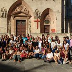 Los peregrinos de la Parroquia de San Roque de Sevilla ya estan camino de la @jmj_es!! #JMJCracovia2016 #Krakow2016 https://t.co/GlQpGw61Hg