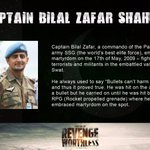 #TributeToSwatHeroesROTW   Captain Bilal Zafar Shaheed embraced martyrdom while fighting militants. https://t.co/zqVcRufj4t