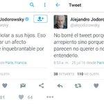 El twit polémico de Alejandro Jodorowsky https://t.co/uLsrBOa4JA