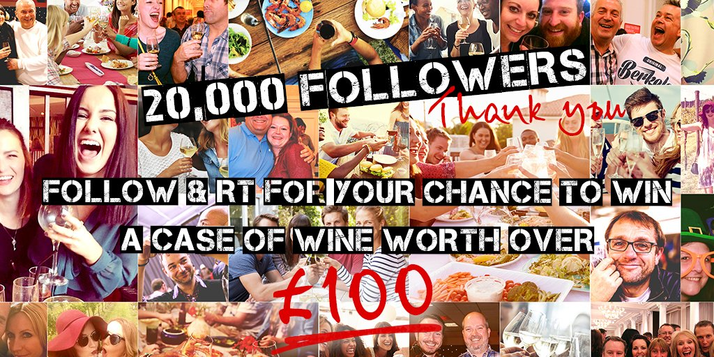 20,000 followers! You lovely people you. Retweet & Follow for your chance to WIN. UK residents only. Age 18+. https://t.co/nTRGixOE5y