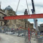 And there it goes - thats the last beam connecting the old library to @BM_AG being lifted out! https://t.co/BxNpZzBXup