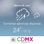 El pronóstico del clima para hoy en #CDMX es de un Min. 12°C - Max. 24°C https://t.co/iPJaAOtPaz