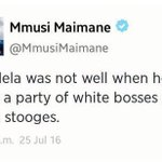 He continues to insult Madiba. Now Madiba was senile. We allow him. Yeses! Where are the 80s. https://t.co/iFANeGGtl2