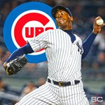 THIS JUST IN: Cubs acquire closer Aroldis Chapman from the Yankees in a five-player deal. (via @FanRagSports) https://t.co/44pW4mjwvb