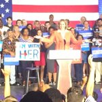 """CLT mayor @JenRobertsNC is up. Speaking on Clinton says """"she will join us together, she will not divide us."""" @wsoctv https://t.co/4nptgy0iRp"""