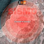 🔵 LO ÚLTIMO | Se registra Sismo 6,2 Richter en la región de Atacama https://t.co/hvDSggSlj5 https://t.co/2imBhMxnIQ