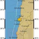 [13:26HL] ⚠ AHORA Fuerte Terremoto M6.2 a 34 km al NO de Chañaral-Chile con una profundidad de 28 km. #temblor #CSN https://t.co/WGLjJx8bsk