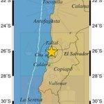 AHORA Sismología corrige magnitud a 6,0 Mw. Sismo ocurrió a 30 km al noreste de Chañaral https://t.co/f7bl0da2Qx https://t.co/3ELik7dgRG