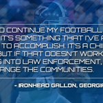 What are you going to do after your done at @GSAthletics, senior linebacker Ironhead Gallon gave this answer... https://t.co/3MomAB6vYU