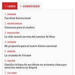 """La columna """"Facultad discrecional"""" que el ex presidente @AlvaroUribeVel quiso sepultar con calumnias es lo más leído https://t.co/k2u0VbLrUj"""