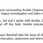 #Cubs Chairman Tom Ricketts and Aroldis Chapman issued the following statements on today's move. https://t.co/x2HrMi6WP1