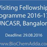 #Visiting #Fellowships #Programme 2016-17 @ JNCASR, #Bangalore https://t.co/J18UB8Y0Yl https://t.co/iKdGDMi769