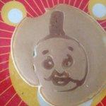息子に「トーマスのパンケーキが食べたい」と言われ何とか作ったら、公家のパンケーキになってしまった。息子に見せたら、無表情だった。。(-_-) https://t.co/X1H6wAT4Ia