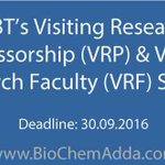 DBT's #Visiting #Research #Professorship & Visiting Research #Faculty in NER, #India https://t.co/SqpDqRuWZQ https://t.co/ChQPlNfQJn
