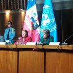 Presidenta de #Chile Michelle Bachelet y @aliciabarcena inauguran seminario @sbif en #CEPAL. https://t.co/SQYHqYiNOR https://t.co/nU8EvSt4Fb
