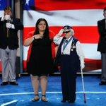 Youngest delegate Clarissa Rodriguez-TX & oldest delegate Ruby Gilliam-OH deliver the Pledge of Allegiance #DNCinPHL https://t.co/csxLPhYaTt