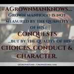 #AGrownManKnows A king is never ruled by his appetites; a slave, always. #MCM https://t.co/dnQVOHjqL3
