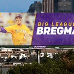 BIG LEAGUE BREGMAN! #LSU is celebrating @ABREG_1s @MLB debut with this billboard in the Houston area! #LSUMLB https://t.co/CcKu7D7CHa