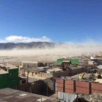 Amigos de #Chañaral para quienes consultan . Los fuertes vientos no tienen relación con Sismo del medio día https://t.co/MflqfovjkM