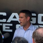 """#Cubs Theo Epstein: the opportunity to win is """"sacred"""" felt like we owed it to other 14 guys to make this move h https://t.co/3FmE7cGexI"""