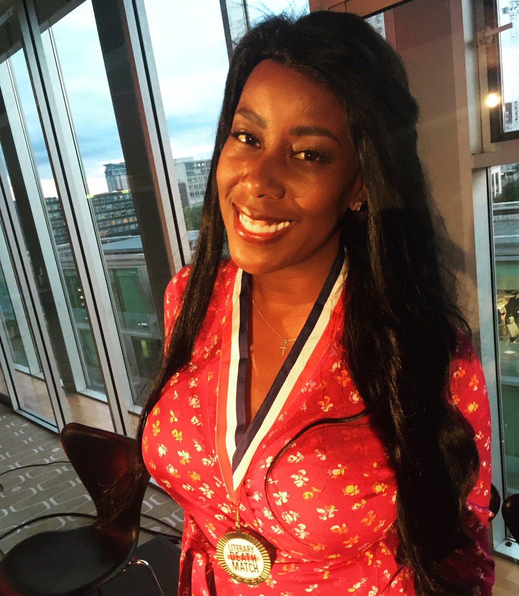 Congrats to @natashiadeon, winner of Literary Death Match London, Ep. 59!!