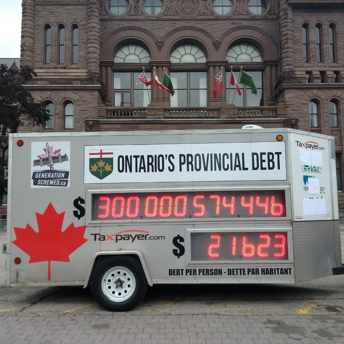 Sad day: Ontario's accumulated debt over $300 B and growing. Worst debt of any province or state in the world. https://t.co/3LhXSb7jju