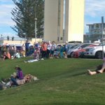 Crowds build at Point Danger as @Migaloo1 draws closer... #soon @abcgoldcoast https://t.co/zj0VLvqW4G