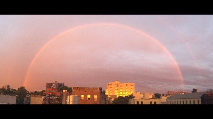 Pat Kiernan @PatKiernan: RT @Janellaboo: @patkiernan @NY1 sexy storm sunset beaut tonight with a dash of rainbow! https://t.co/Qi4SJY3FhU