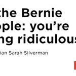 """Comedian @SarahKSilverman supports Bernie Sanders but will vote for Hillary Clinton """"with gusto."""" Chants continue. https://t.co/rtdKaHSmtV"""