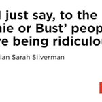 Clarifiying quote from @SarahKSilverman at #DNCinPhilly. Says she supports Sanders but will vote for Clinton https://t.co/6VROBTgeLm