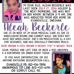 Lets keep sharing this until Aleah is found.  *MISSING* Aleah Beckerle - Evansville, IN https://t.co/MLcH4q36WN
