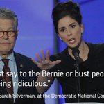 Sarah Silverman, once a Sanders backer, tells #DemsInPhilly she plans to vote for Clinton. https://t.co/q8cfpxdrW1 https://t.co/lNUrYSJAS7