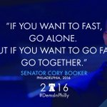 Tonight, @corybooker reminds us were stronger together. #DemsInPhilly https://t.co/Et3E5gj1ro