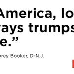 Sen. Corey Booker gave a sweeping speech about big themes -- unity, patriotism No audible booing https://t.co/SsCsN8BOz9