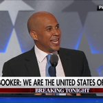 """.@CoryBooker: """"In America, love always trumps hate."""" #DemsInPhilly #DemConvention https://t.co/fLX5OgJSxw"""