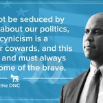 New Jersey Sen. Cory Booker tells voters not to fall into complacency #DemsInPhilly #Decision2016 https://t.co/gtWelR4VBP