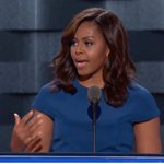 """FLOTUS on Trumpism: """"Our motto is: when they go low, we go high."""" #DemsInPhilly https://t.co/paTxVFiCJf"""