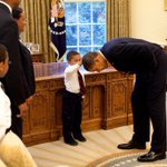 This is the boy @FLOTUS mentioned in her speech who asked if @POTUS had hair like his. Photo on WH wall for 8 years. https://t.co/yyPdi3JAKN