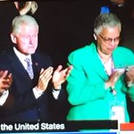 Whoa. Cook County Board President Toni Preckwinkle has a prime seat next to Prez Bill Clinton at #DNCinPHL #chicago https://t.co/E5Y1ZlkU4B