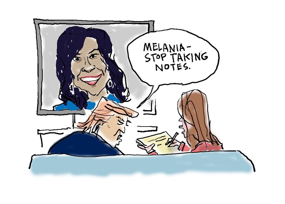 Globe cartoonist Dan Wasserman on Michelle Obama's speech: https://t.co/Yqo3cBdy7j #DemsinPhilly