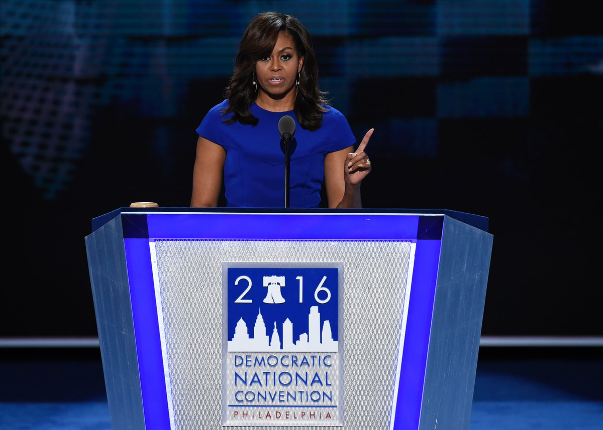 """.@FLOTUS: """"I wake up every morning in a house that was built by slaves."""" https://t.co/Q6LSRXSjuf"""